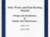 Solar Water and Pool Heating Manual