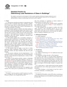 standard practice for determining load resistance of glass in buildings