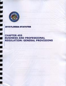 florida statutes chapter 455
