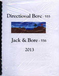 555 directional bore 556 jack and bore