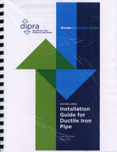 installation guide for ductile iron pipe